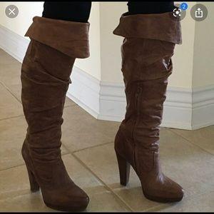 Jessica Simpson cognac tulip boot